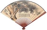 松风 成扇 设色纸本 - 符铸 - 中国书画(二) - 2006春季拍卖会 -收藏网