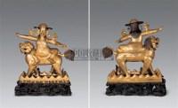 18-19世纪 铜镀金护法意王像 -  - 雪域佛光 - 2007年秋季艺术品拍卖会 -收藏网