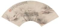 蔡嘉 丁卯(1747年)作 水村图 扇面 - 蔡嘉 - 中国古代书画 - 2006秋季拍卖会 -收藏网