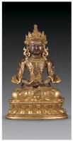 铜鎏金无量寿佛像 -  - 佛像唐卡 - 2007春季艺术品拍卖会 -收藏网