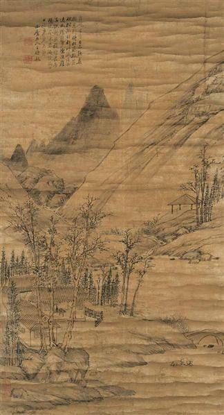 王时敏 山水 立轴 设色纸本 - 116518 - 中国书画(一) - 2006畅月(55期)拍卖会 -收藏网