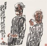 杨晓阳 茶道 镜心 设色纸本 - 杨晓阳 - 中国书画 - 2006首届艺术品拍卖会 -收藏网