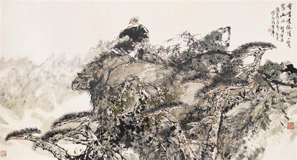 杜甫诗意 镜心 设色纸本 - 67957 - 中国当代水墨 - 2006秋季拍卖会 -收藏网