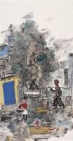 张立柱 润民 镜心 设色纸本 - 张立柱 - 中国当代书画 - 2006秋季拍卖会 -收藏网
