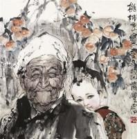 桃柿早 镜片 设色纸本 - 梁岩 - 中国书画·雕塑 - 2010年夏季拍卖会 -收藏网