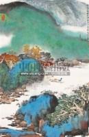 山水 镜心 设色纸本 - 2383 - 翰墨斋书画专场 - 2011首届书画精品拍卖会 -收藏网
