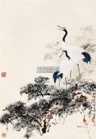 双寿图 立轴 纸本 - 145584 - 保真作品专题 - 2011春季书画拍卖会 -收藏网