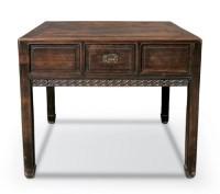 民国 红木签字桌 -  - 明清古典家具 - 2007春拍瓷器雅玩家具拍卖 -收藏网