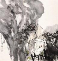 空谷幽居图 立轴 设色纸本 - 51685 - 海外回流书画专场(五) - 2011秋季艺术品拍卖会 -收藏网