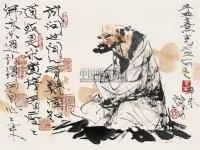 林墉 辛未(1991年)作 高士 镜心 纸本 - 3950 - 中国书画(二) - 2006年第4期嘉德四季拍卖会 -收藏网