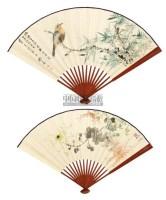 吴芸 花鸟 成扇 设色纸本 - 139818 - 中国书画(一) - 2011春季拍卖会 -中国收藏网