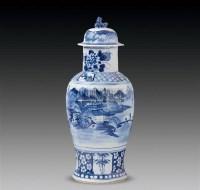 青花山水人物瓶 -  - 古董珍玩 - 2011春季艺术品拍卖会 -收藏网
