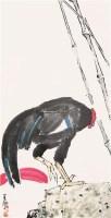 花鸟 公鸡 镜心 设色纸本 - 117854 - 关东名家书画专场(三) - 2011秋季艺术品拍卖会 -收藏网