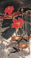 郑乃珖 1985年作 荷花 镜心 设色纸本 - 119027 - 中国书画 - 2006秋季文物艺术品展销会 -收藏网