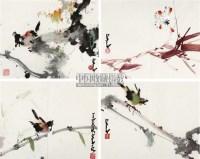 花鸟 册页 (四开) 设色纸本 - 135045 - 中国书画 - 四季精品拍卖会 -收藏网