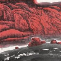 山水 镜心 设色纸本 - 周尊圣 - 中国书画 - 第117期月末拍卖会 -收藏网