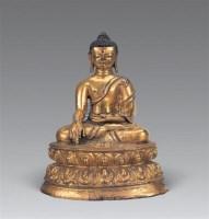 明 铜鎏金阿閦佛像 -  - 妙音天籁-佛教艺术品 - 2006年秋(十周年)拍卖会 -收藏网