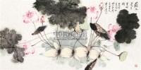 荷花莲叶呈祥瑞 软片 设色纸本 - 18235 - 中国书画(一) - 2011春季中国书画拍卖会 -中国收藏网