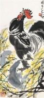 一唱雄鸡天下白 立轴 设色纸本 - 陈大羽 - 中国书画(一)•红色记忆•小品、扇画 - 沧海明珠•常州沧海2011首届艺术品拍卖会 -收藏网