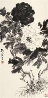牡丹 立轴 水墨纸本 - 122234 - 中国书画 - 2011年夏季艺术品拍卖会 -中国收藏网