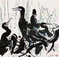 鱼鹰 - 吴冠中 - 中国书画 - 2006广州冬季拍卖会 -收藏网