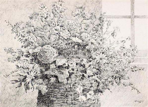 钢笔画花卉图片梅花展示