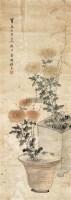 秋菊图 立轴 设色纸本 -  - 中国书画(二) - 2011秋季艺术品拍卖会 -收藏网