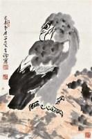 鹰 立轴 设色纸本 - 李苦禅 - 中国书画(一) - 2011年春季拍卖会 -收藏网