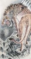 """虎 立轴 设色纸本 - 4443 - 中国书画 - 2010""""庆世博""""文物艺术品上海专场拍卖会 -中国收藏网"""
