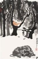 暮韵图 立轴 设色纸本 - 139817 - 中国书画专场 - 2011秋季拍卖会 -收藏网