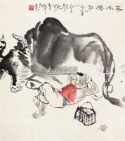 不亦乐乎 立轴 纸本 - 114744 - 保真作品专题 - 2011春季书画拍卖会 -收藏网