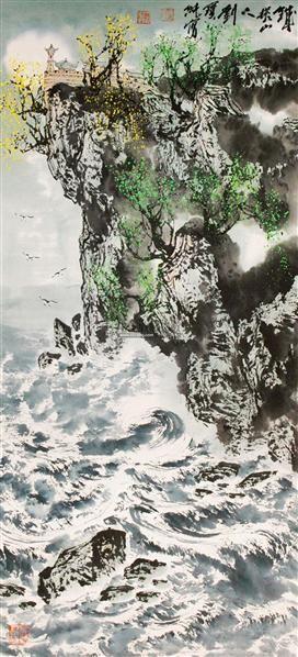 山水 立轴 纸本 - 117920 - 中国书画专场 - 2012年迎春中国书画精品拍卖会 -收藏网