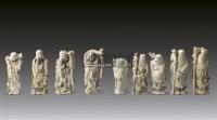 象牙雕人物 (九件) -  - 瓷器 玉器 工艺品 - 2011春季艺术品拍卖会 -收藏网