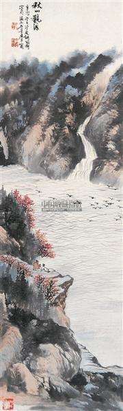山水 立轴 设色纸本 - 116692 - 中国书画 - 第117期月末拍卖会 -收藏网