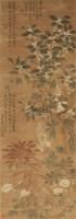 花卉 立轴 绢本 - 恽寿平 - 文物商店友情提供 - 庆二周年秋季拍卖会 -收藏网