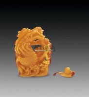 鹤顶红龙形鼻烟壶 -  - 古董珍玩 - 2011春季艺术品拍卖会 -收藏网