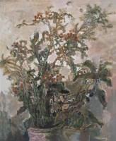莫雄 2005年作 花系列 布上油画 - 1157 - 中国西画 - 2006秋季拍卖会 -收藏网