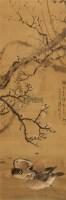 梅花鸳鸯戏水图 立轴 绢本 - 136627 - 中国书画(一) - 2011首届秋季艺术品拍卖会 -收藏网