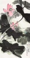 夏荷 立轴 纸本 - 4513 - 中国书画(一) - 2011年春季拍卖会 -收藏网