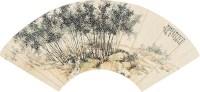 山水 扇片 - 汪吉麟 - 中国书画(二) - 2011金秋拍卖会 -收藏网