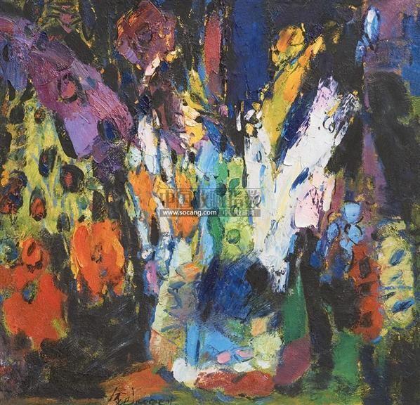 彩韵系列之三 画布 - 158325 - 油画专场 - 首届中国爱德艺术名家作品公益性拍卖会 -收藏网