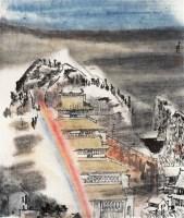 彩虹 镜片 设色纸本 - 116077 - 中国书画艺术品(二)专场 - 2011年春季艺术品拍卖会 -收藏网