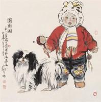 圆圆图 镜心 设色纸本 - 李延声 - 中国当代水墨 - 2006秋季拍卖会 -收藏网