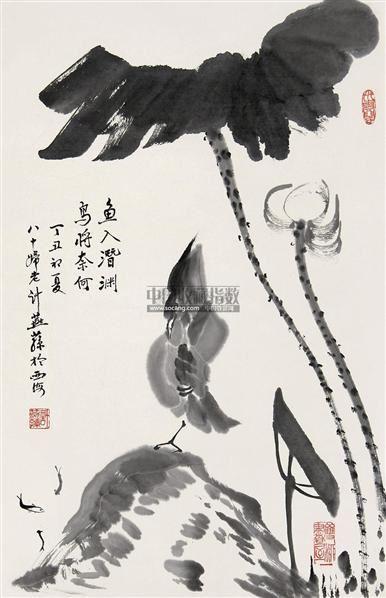 花鸟 立轴 水墨纸本 - 129087 - 中国书画 - 第117期月末拍卖会 -收藏网