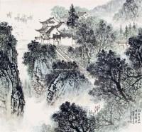 南京清凉山 立轴 纸本 - 5002 - 中国书画 - 2011春季艺术品拍卖会 -收藏网
