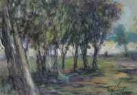 张自正  1991年作 风景 纸上油画 - 张自正 - 中国西画 - 2006秋季拍卖会 -收藏网