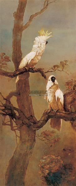 老树白鹦鹉 油画·木版 - - 现代当代艺术 - 2007年第74期拍卖会