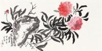 牡丹 镜片 设色纸本 - 陈子林 - 中国书画(二) - 2011秋季艺术品拍卖会 -收藏网