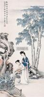 桐阴溉菊 立轴 设色纸本 - 125768 - 中国书画 - 2008春季艺术品拍卖会 -收藏网