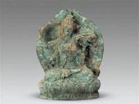 青铜执杆菩萨 -  - 古董珍玩 - 2012迎春艺术品拍卖会 -收藏网